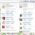 写真: Operaエクステンション:Extension Finder(Googleマップ、拡大)