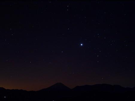 冬のさそり、明星、富士