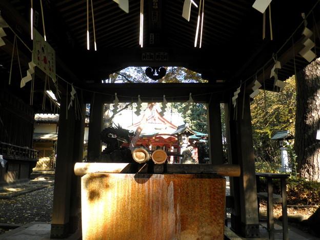 世田谷線:宮の坂駅界隈_世田谷八幡宮-05手水舎