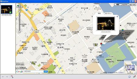 地図(撮影向き情報付き)