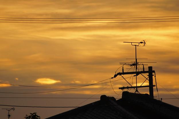 黄金色に輝く朝焼け雲 2