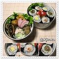 ◆11.29 のの字海苔巻ご飯のお弁当(長女)♪
