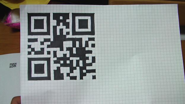 手書きのQRコード