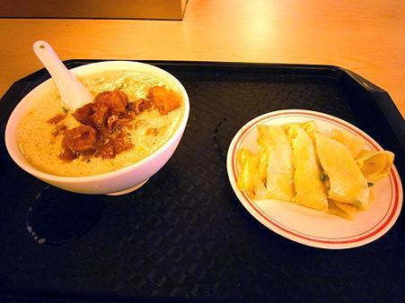 鹹豆漿と蛋餅