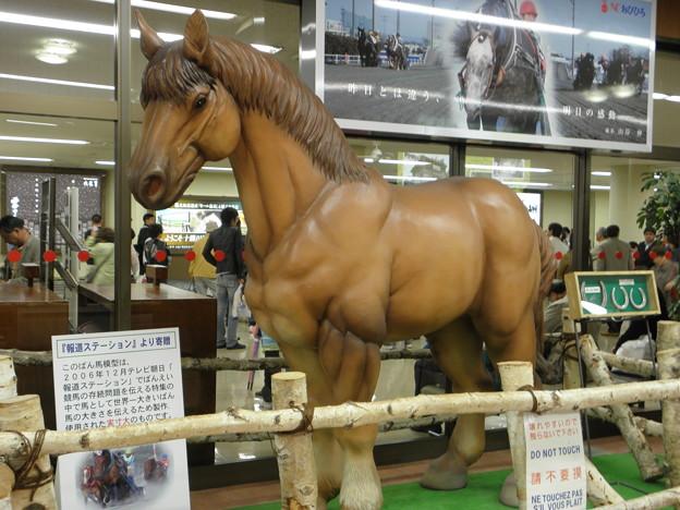 とかち帯広空港の輓曵馬