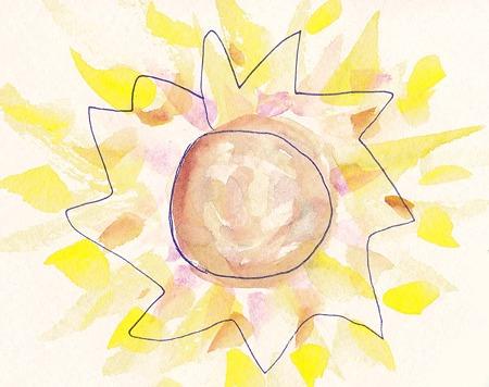 猛暑の日の太陽