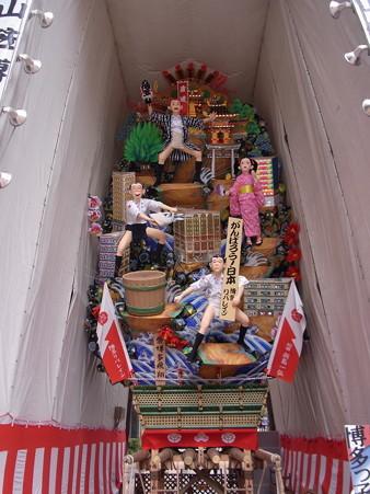 08 博多祇園山笠 飾り山 博多っ子純情 2012年 祭博多飛翔(まつりのはかたのひしょう)写真画像