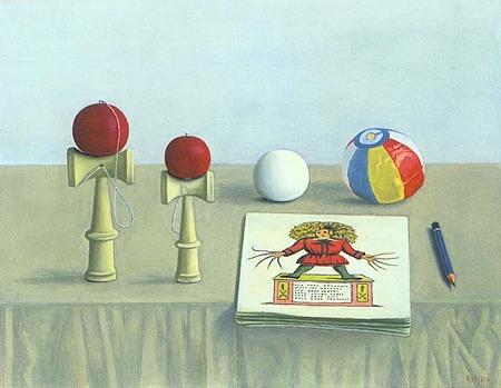 長谷川潾二郎,玩具と絵本,拡大