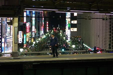 2010.12.19 新橋 ホームからクリスマス