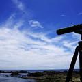 写真: 海とBORG77EDII