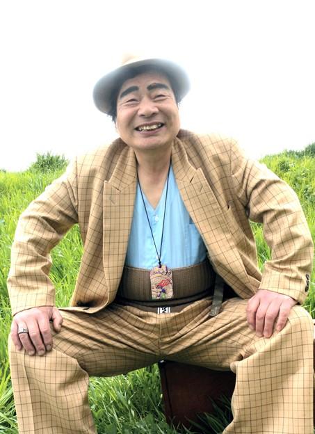 荒川土手の桜・寅さん二世現る-6-P6-0409-39