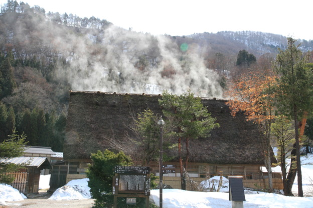 写真: 100316-24白川郷・水蒸気