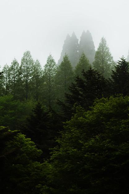 霧の六甲山