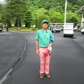 写真: 足利城ゴルフ倶楽部2014年倶楽部選手権予選スタート前の親さん 2014.6.29