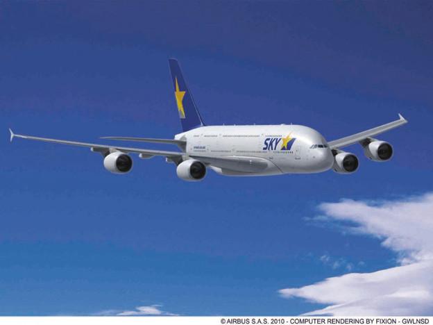 写真: スカイマークA380
