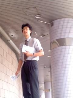 7月1日(火)大船駅朝駆け(角田晶生)