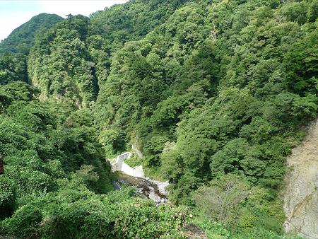 桂茶屋より見る九酔渓(2)
