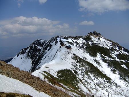 権現岳への縦走路